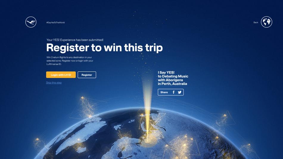 Lufthansa #SayYesToTheWorld