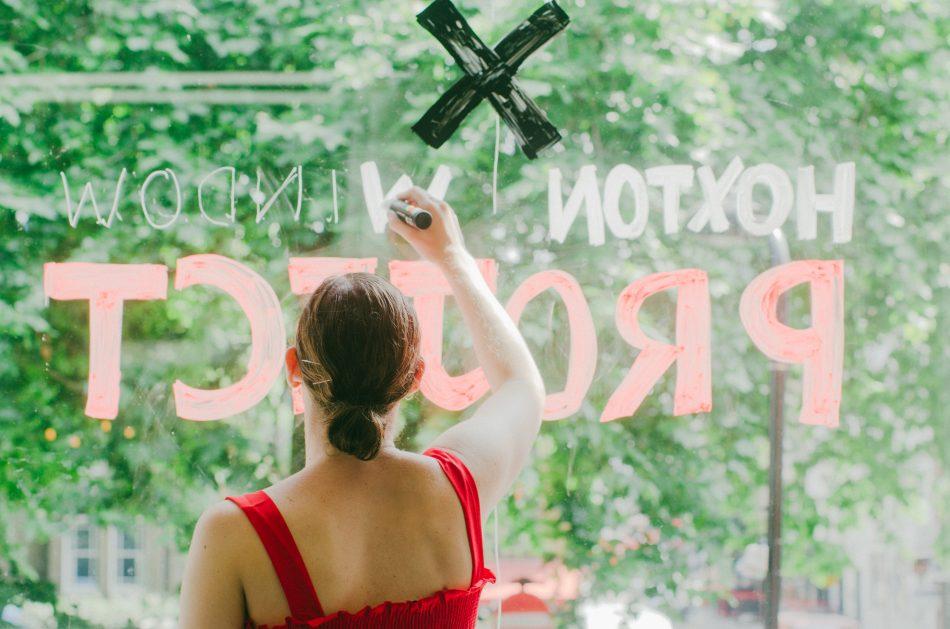 Hoxton Window Project Sarah Tanat-Jones
