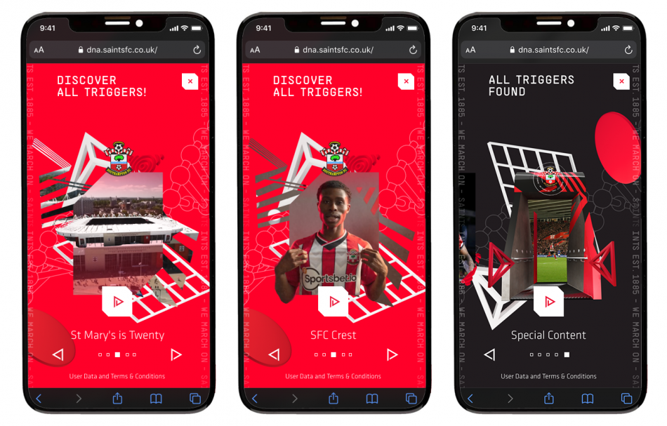 Southampton FC A kit full of content